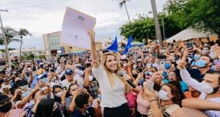RECIBE PATY LOBEIRA  CONSTANCIA DE MAYORIA COMO CANDIDATA ELECTA A LA ALCALDIA DE VERACRUZ